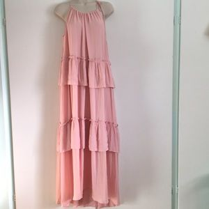 125f198a73ae LOFT Dresses | Tiered Pink Maxi Dress | Poshmark